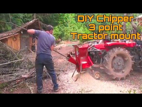 Troy bilt Chipper shredder 3 point tractor mount modification