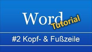 Abschlussarbeit in Word (#2): Formatierung der Kopfzeile / Fußzeile