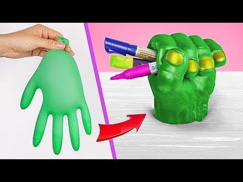 8 DIY MARVEL Schulsachen vs DC Schulsachen / Superhelden Schulsachen