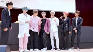 190421 BTS 알라딘 팬사인회 Fansign Q&A TIME with Eng Subtitle 4k