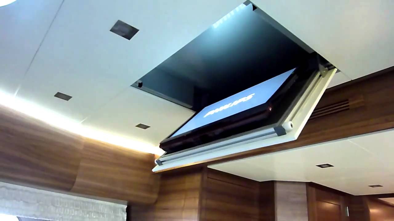 tv ceiling plafond liften innotech waalwijk tv lift plafond youtube. Black Bedroom Furniture Sets. Home Design Ideas