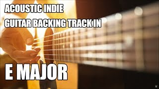 Acoustic Indie Guitar Backing Track In E Major