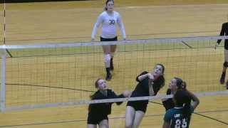 Slow Motion Volleyball Play