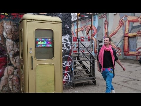 Disco ball in a telephone box: Germany's smallest nightclub