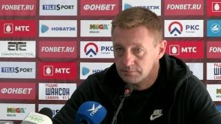 Послематчевая пресс-конференция Дмитрия Аленичева и Андрея Тихонова