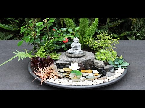 mini jardin zen youtube. Black Bedroom Furniture Sets. Home Design Ideas