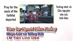 Lm.Tiến Linh, Bài hát Tâm Sự Người Nằm Xuống