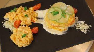 Слоёный омлет с овощами и сыром. Рецепт от шеф-повара.