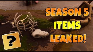 NEW FORTNITE SEASON 5 LEAKED ITEMS AND THEORIES!