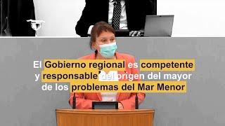 El Gobierno Regional es el mayor responsable del origen de los problemas del Mar Menor