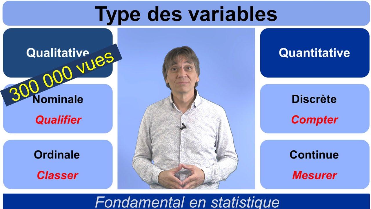 Download Cours de Statistique - Types des Variables : tout ce qu'il faut savoir