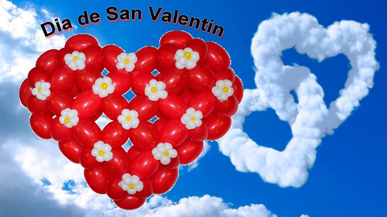 Corazon en globos detalle para el dia de san valentin 1 2 for Decoracion de pared para san valentin
