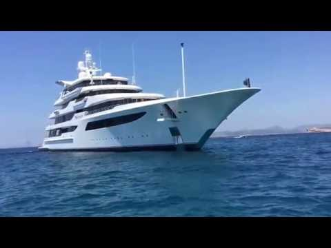 Mega Yacht ROYAL ROMANCE by Feadship visit Ibiza & Formentera   YouTube