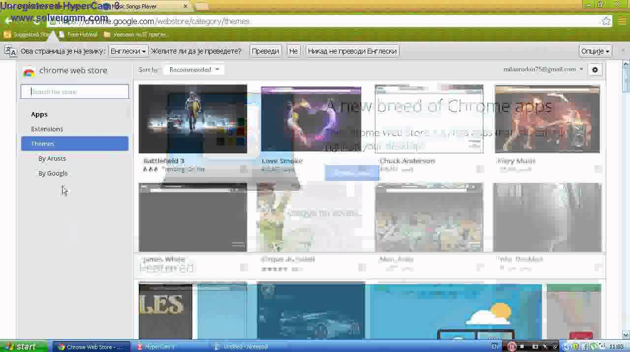 Google chrome themes install