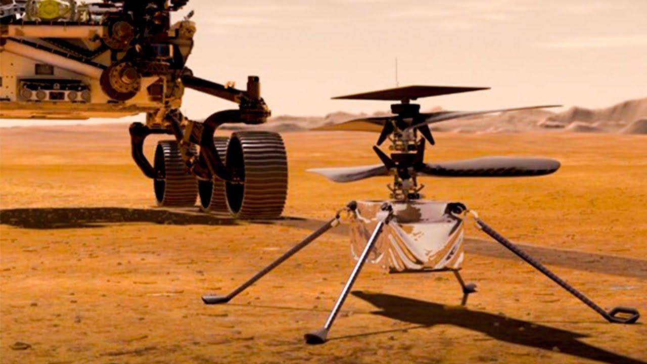 नासा का हेलिकॉप्टर आज जाएगा मंगल ग्रह पर। मार्स मिशन 2020 - NASA Mars Helicopter Ingenuity