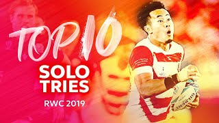 SOLO TRIES ⚡ Top Ten Individual Tries | Rugby World Cup 2019