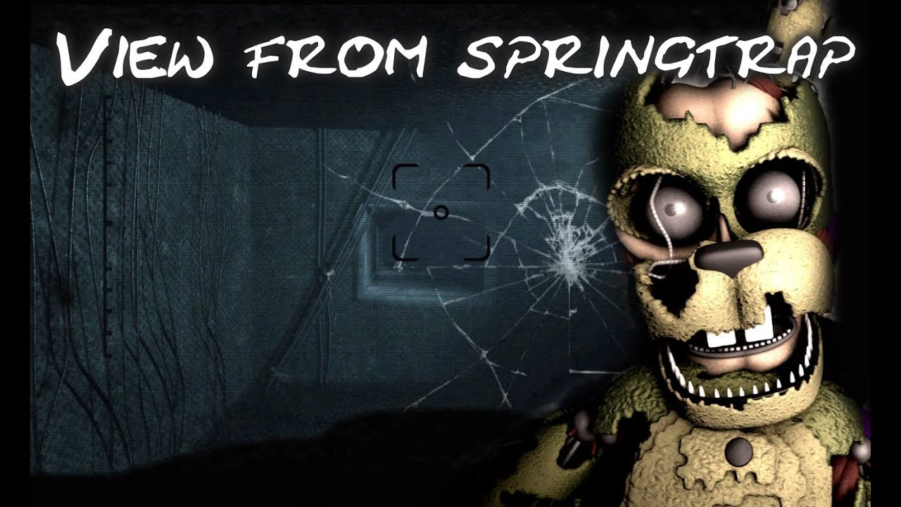 [FNAF/SFM] FNAF 6 Springtrap Office Jump Scare - view from animatronic