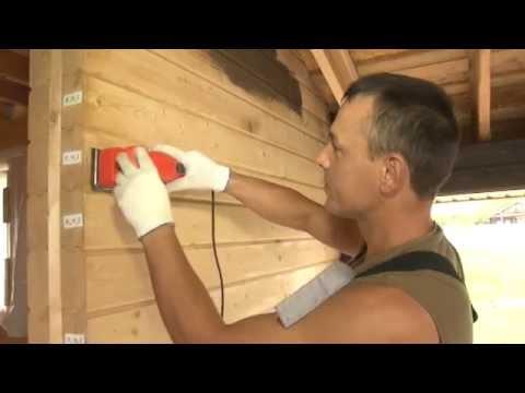 Чем покрасить деревянный дом из клееного бруса. Шлифовка и пропитка. МОГУТА Нижний Новгород