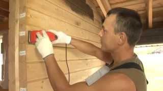 Чем покрасить деревянный дом из клееного бруса.МОГУТА(Компания МОГУТА осуществляет проектирование и строительство деревянных домов и бань из клееного,профилир..., 2014-09-10T19:15:41.000Z)