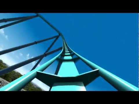 Leviathan Roller Coaster Virtual POV CGI Animated B&M Giga Coaster Canada's Wonderland 2012