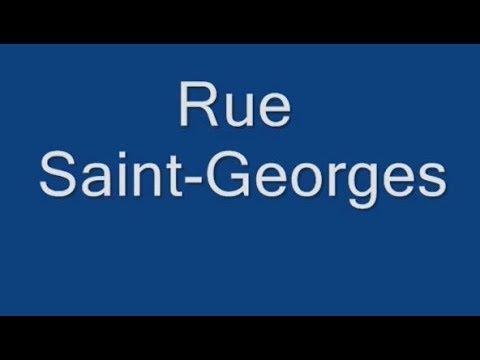 Rue Saint Georges Paris Arrondissement 9e