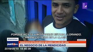 El rentable negocio de ser mendigo en Lima