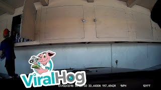 Thief Takes Tools and Car Parts From Carport Storage || ViralHog