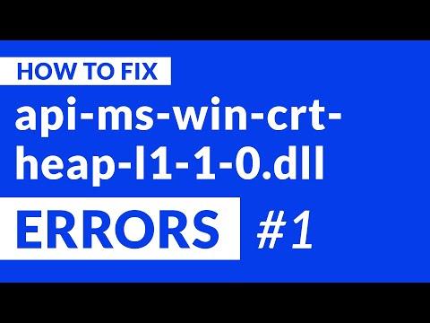 api-ms-win-crt-heap-l1-1-0.dll Missing Error   2020   Fix #1