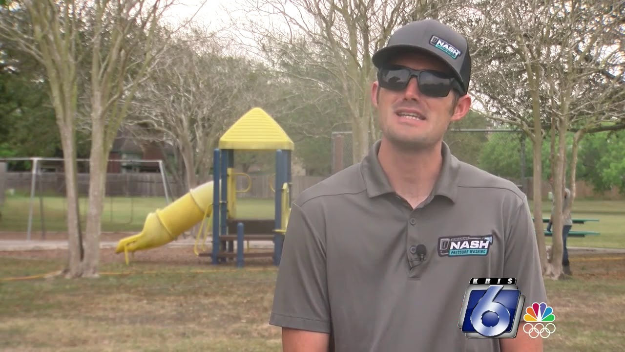 Business owner cleans city playgrounds for free
