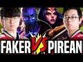 Faker vs Pirean! The SKT T1 Mid Battle! - SKT T1 Faker Ryze vs Pirean Leblanc! | SKT T1 Replays