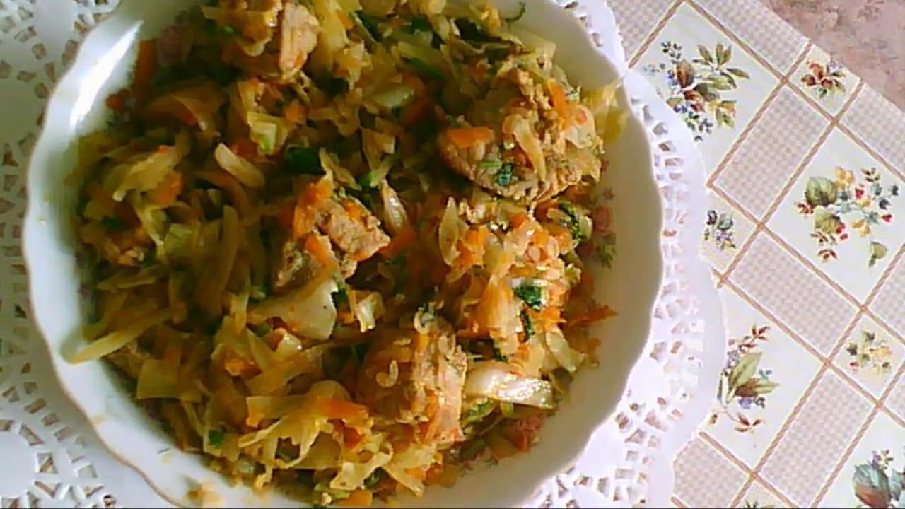 рецепт тушеной капусты очень вкусной