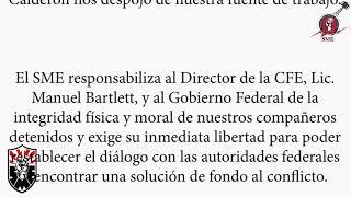 SME  ¡¡ALTO A LA REPRESIÓN EN CONTRA DEL SINDICATO MEXICANO DE ELECTRICISTAS!!