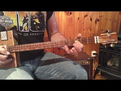 Norwegian Wood lesson for 3 String Cigar Box Guitars