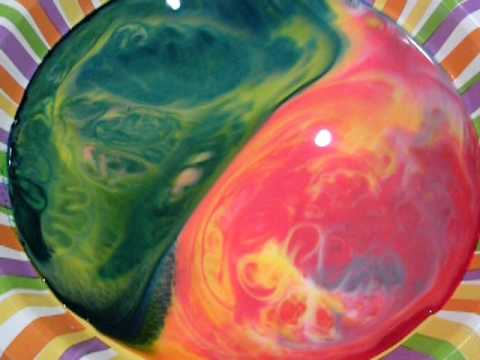 Milk, Food Coloring, and Dish Soap - YouTube