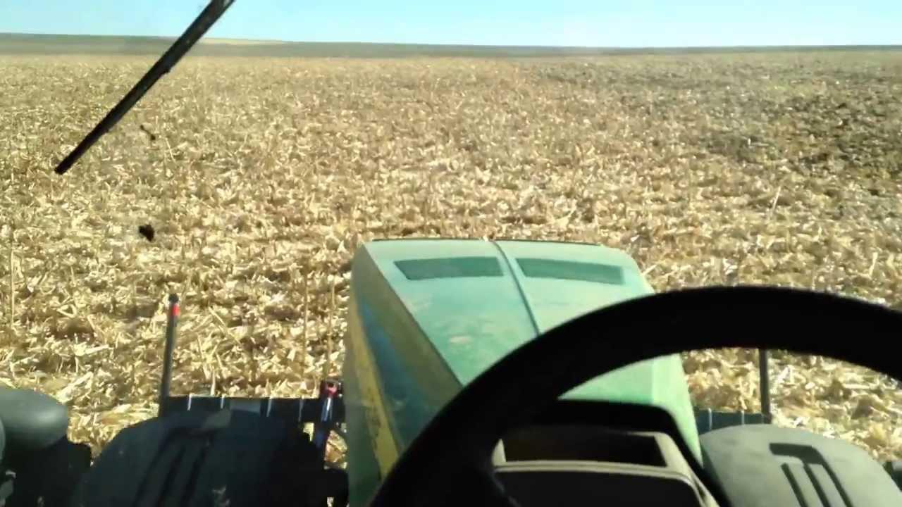 John Deere 8360R Disking with RTK GPS - YouTube