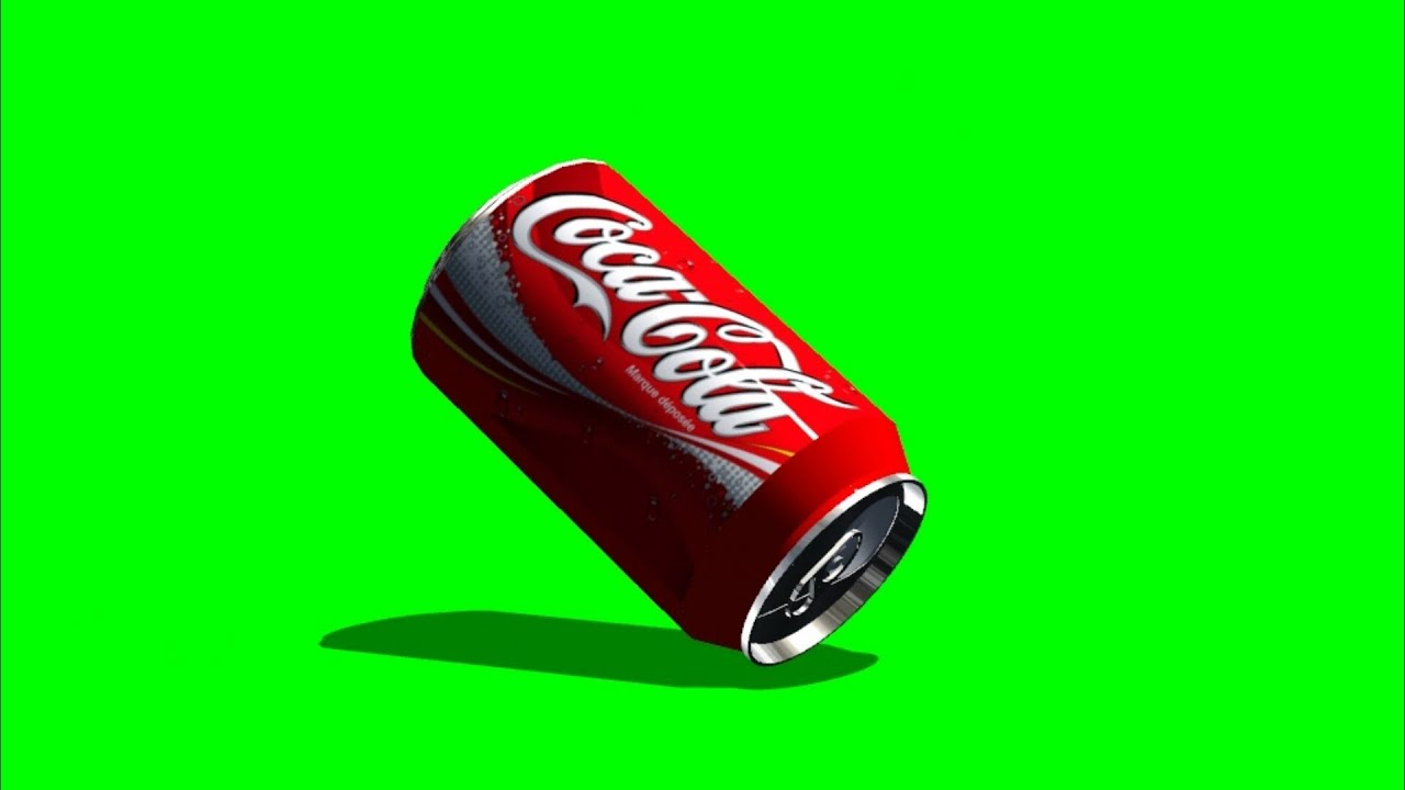coca cola can falls to the ground