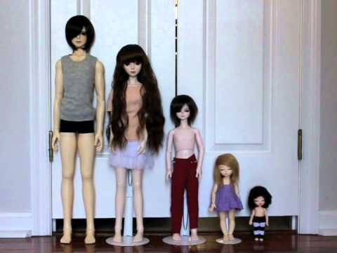 Doll (BJD) Height Comparison - YouTube