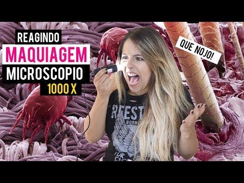 REAGINDO A MAQUIAGEM NO MICROSCOPIO 1000x - Gabriela Capone
