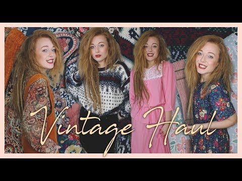 Amazing vintage try on clothing haul