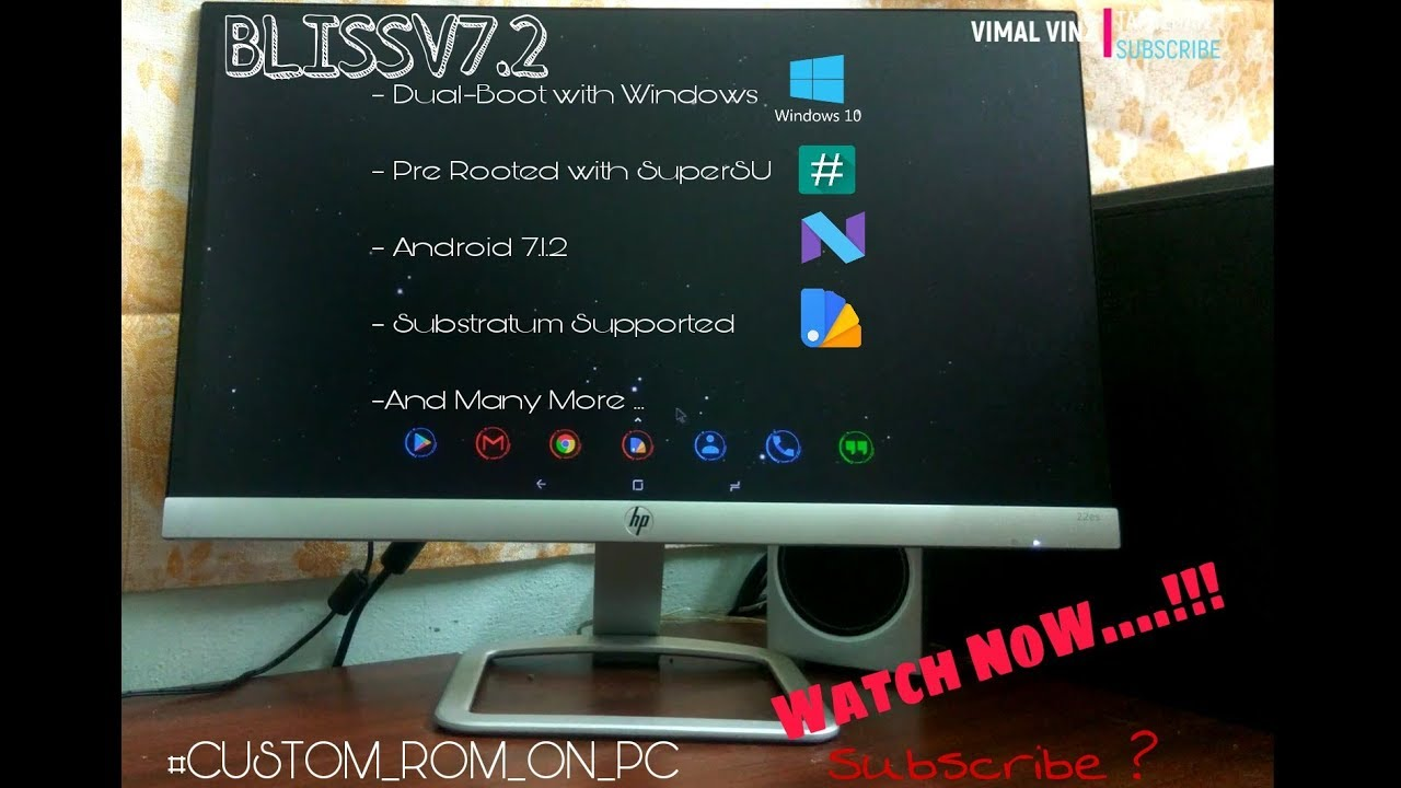 Android 7 1 2   Bliss v7 2   Dual-Boot with Windows   Easy Full Tutorial