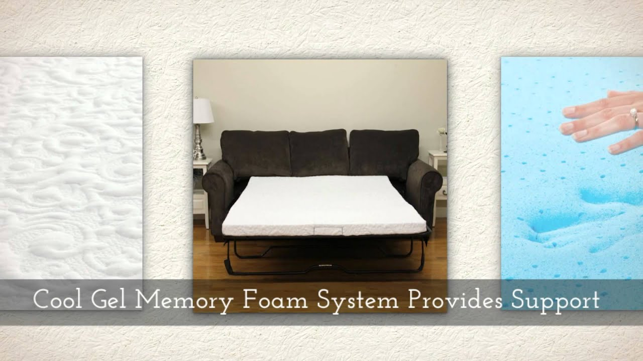 Classic Brands Gel Sofa Mattress For Sleeper Sofa With Cool Gel Memory Foam    YouTube