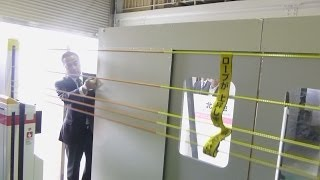 ロープ上下式の柵公開 JR西日本 ホーム転落防止