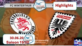 Highlights: FC Winterthur vs FC Aarau (30.06.2020)