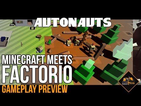 Factorio meets Minecraft | New game Autonauts gameplay pre-alpha gaming