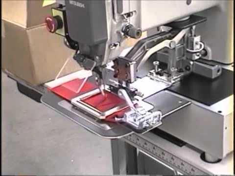 Mitsubishi PLK 40 Cap Visor Programmable Sewing Machine Action Mesmerizing Juki Ams224e Programmable Sewing Machine