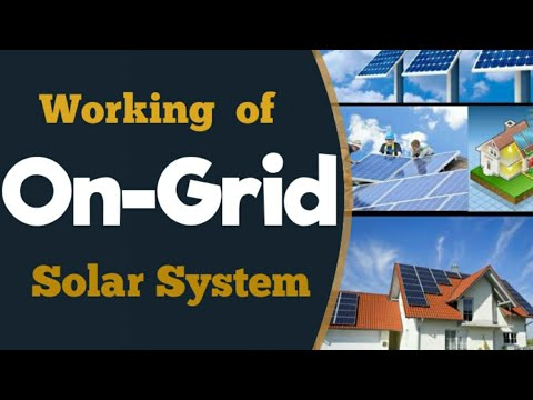 On-Grid-Connected Solar Power System Working, Installation in India