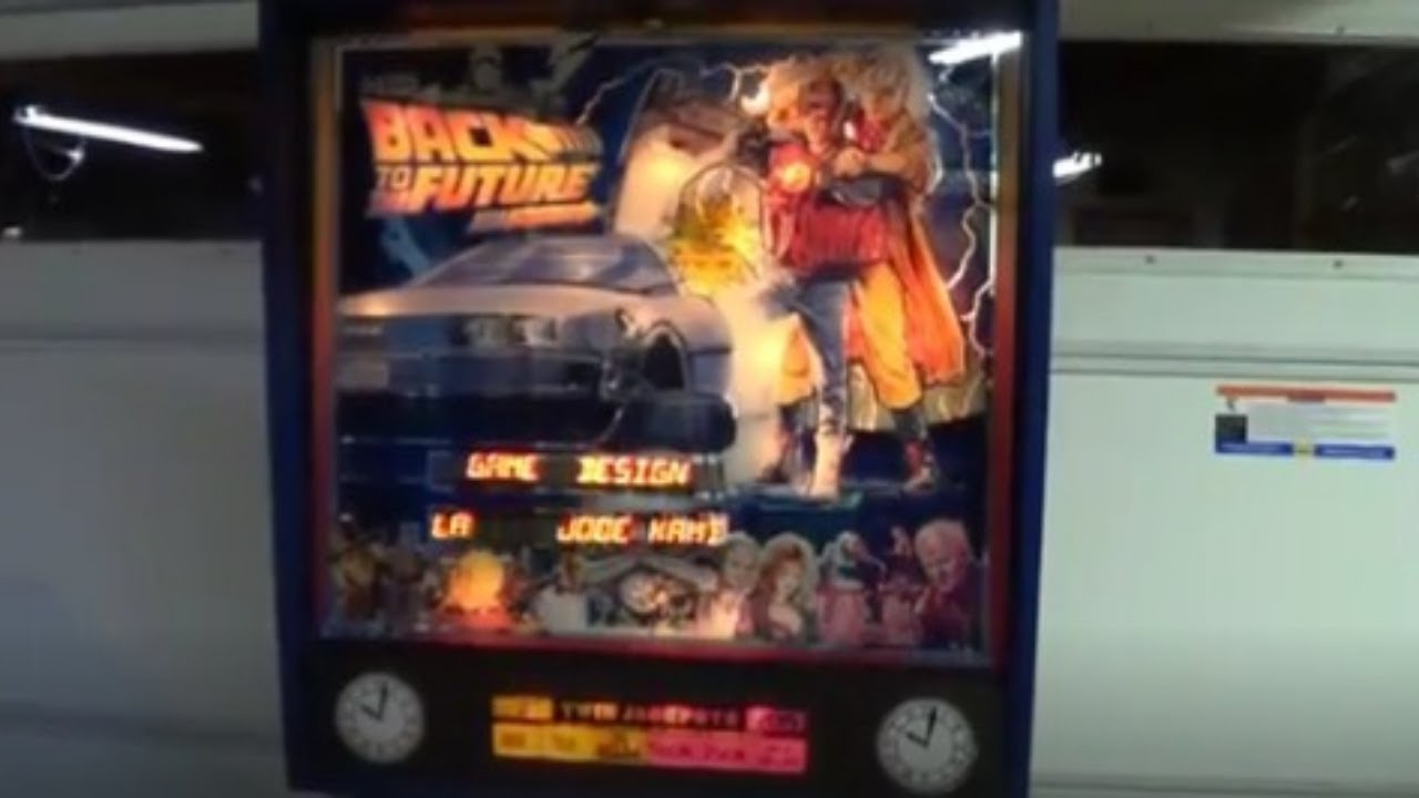 Back To The Future Pinball Machine By Data East Youtube