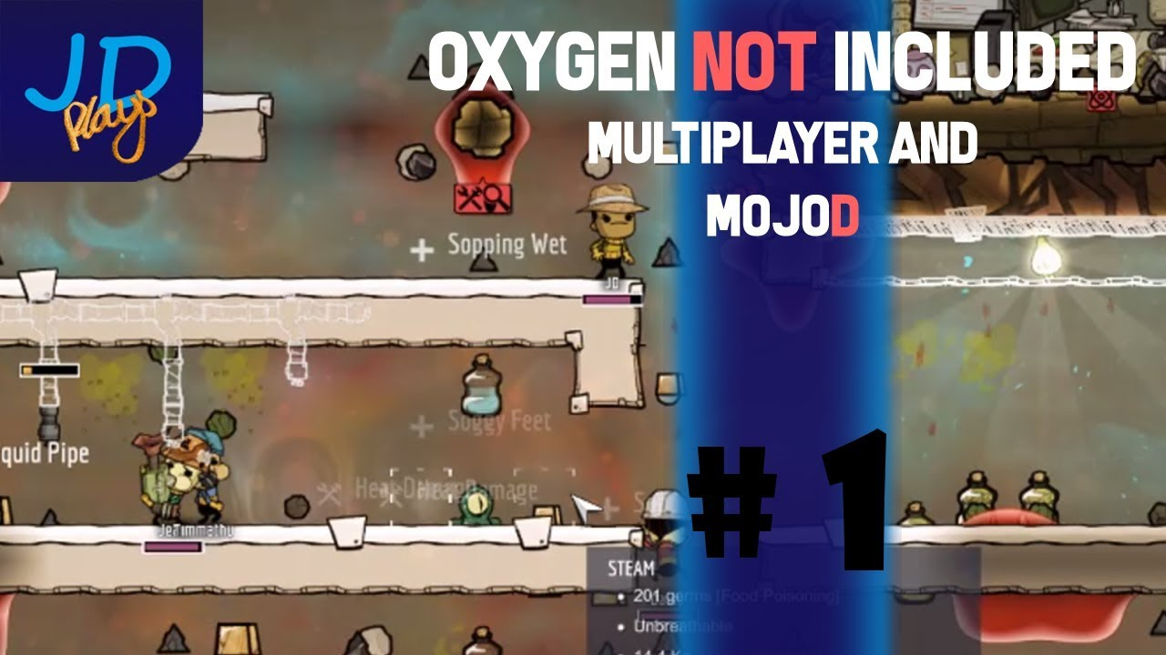 Oxygen Not Included Multiplayer with MojoD! Episode 1 - Direct from Twitch