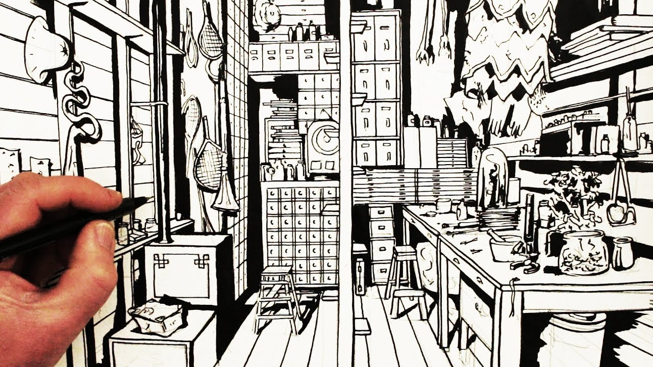 Watch on One Point Perspective Drawing