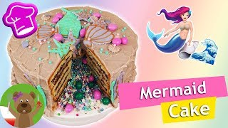 Tort z Syrenką   tort niespodzianka   morski tort Video